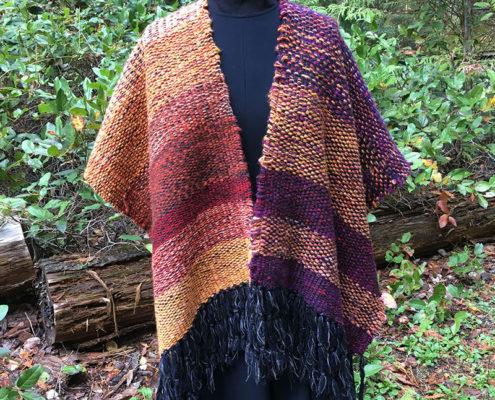 SAORI Freestyle weaving designed by Terri Bibby.