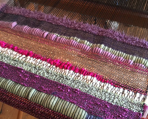 Come to Salt Spring for one ot our SAORI Weaving Retreats.