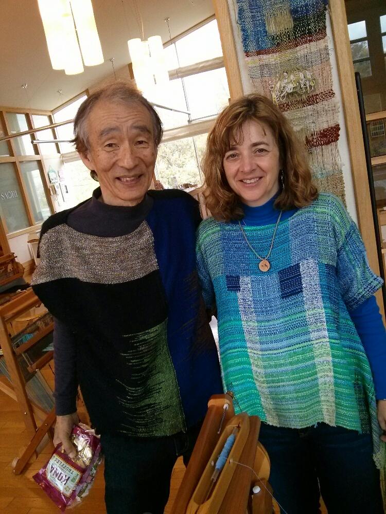 Kenzo Jo and Terri Bibby at SAORI no Mori