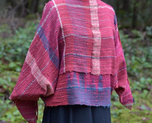 SAORI weaving - boat neck top