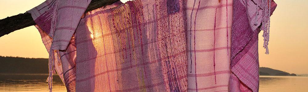 Cherry Blossom, SAORI Weaving