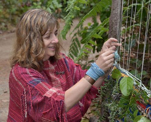 Terri Bibby is a SAORI freestyle weaver and designer.