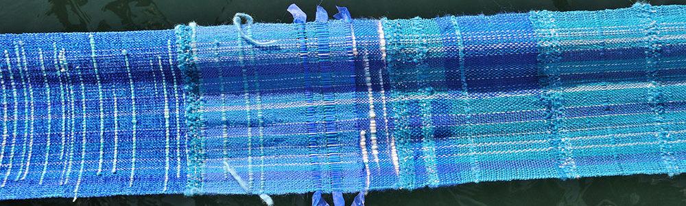 Waterfall Banner, SAORI Weaving