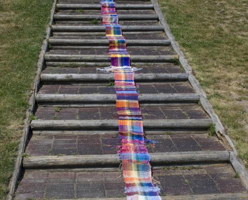 SAORI Peace Banner - Steps to Peace