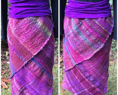 SAORI Weaving - Bias Skirt