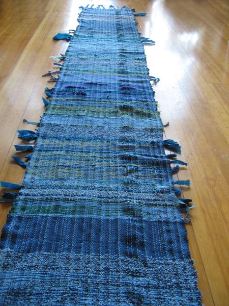 SAORI Weaving blue